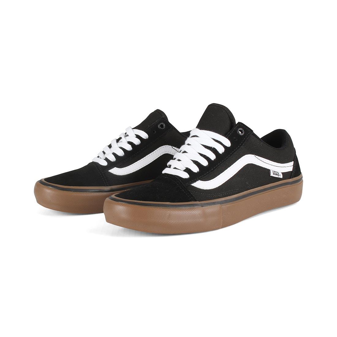 Vans Old Skool Pro Skate Shoes - Black   White   Medium Gum abdbd2039