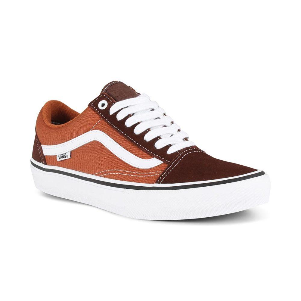 d031658ee2c925 Vans Old Skool Pro Skate Shoes - Potting Soil   Brown