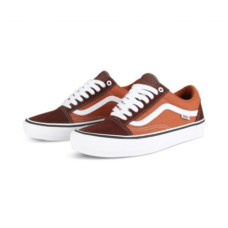 e94480e8189 Vans Old Skool Pro Skate Shoes - Potting Soil   Brown