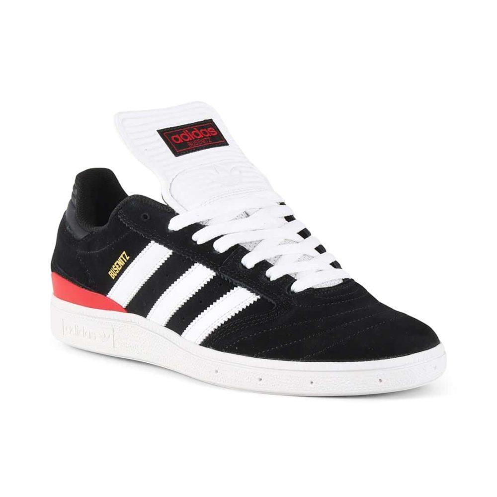 c8a16f48666409 Adidas Busenitz Pro Shoes - Core Black   White   Scarlet