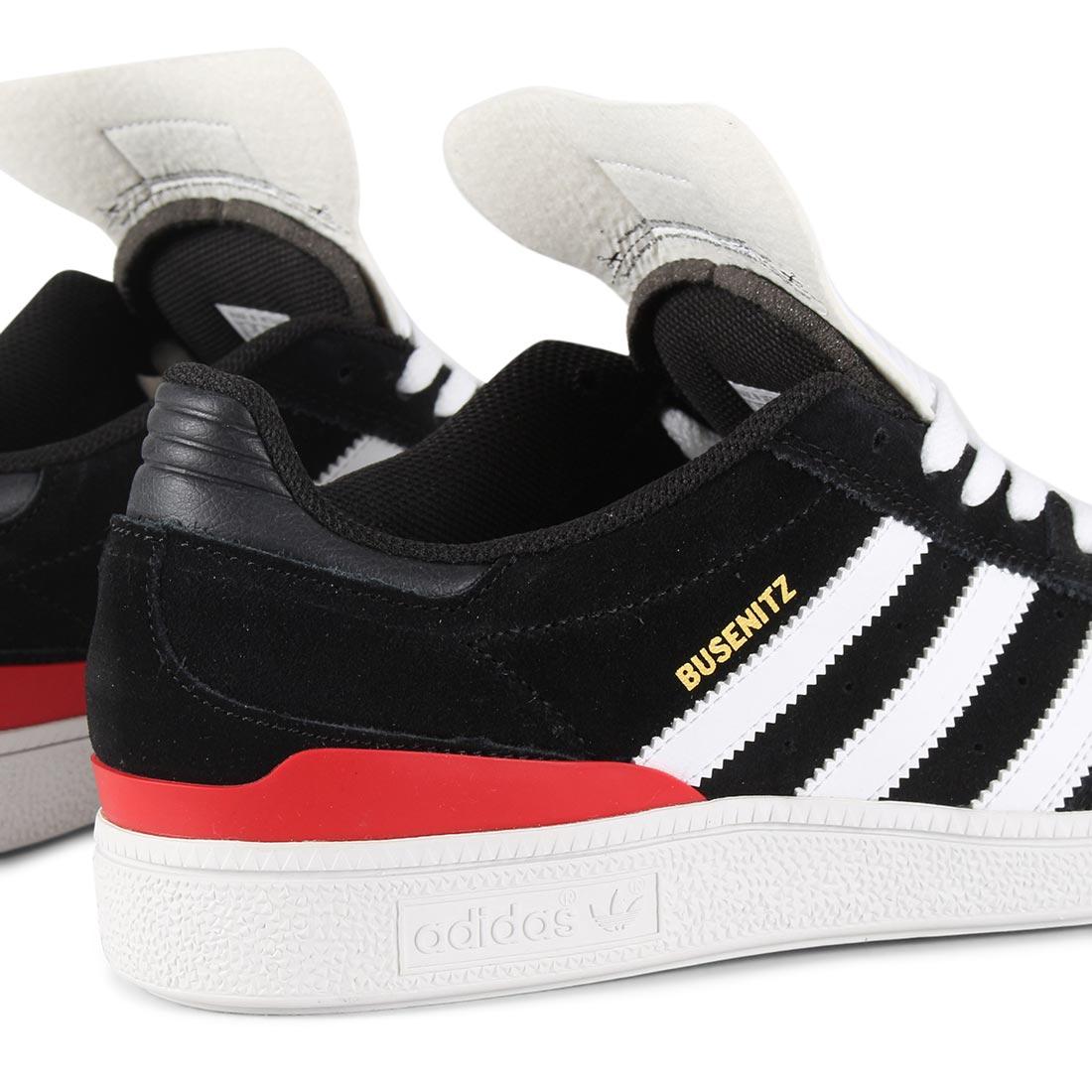 Adidas Busenitz Pro Shoes Core Black White Scarlet