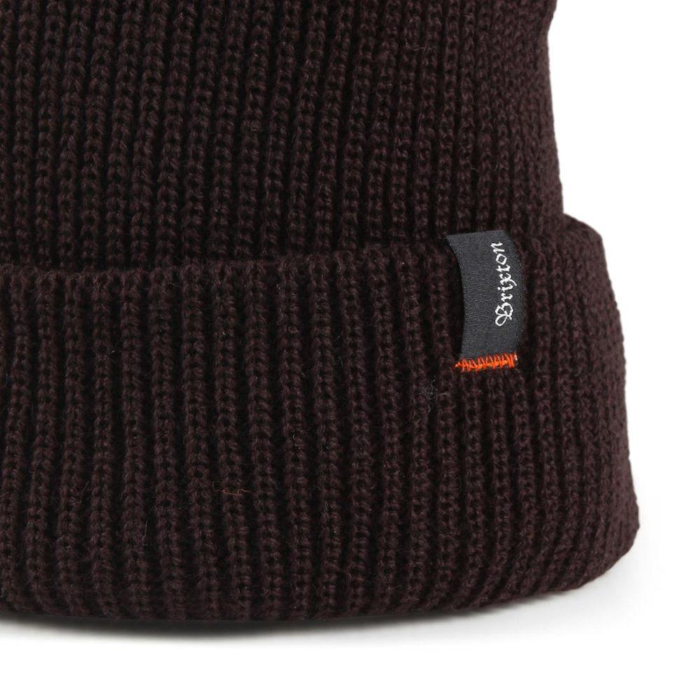 Brixton Heist Beanie Hat - Dark Brown