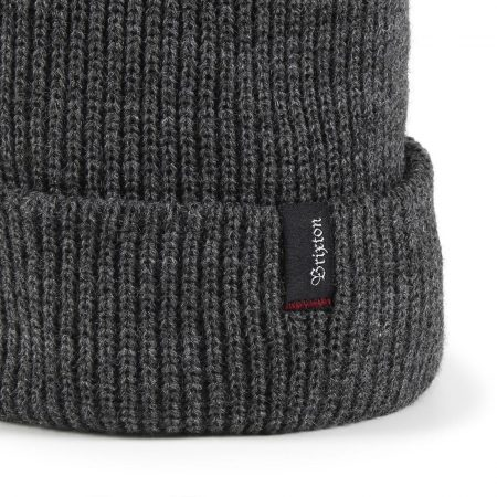 eb14664b6fa Brixton Heist Beanie Hat - Heather Grey