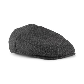 Brixton Hooligan Snap Flat Cap - Grey / Black