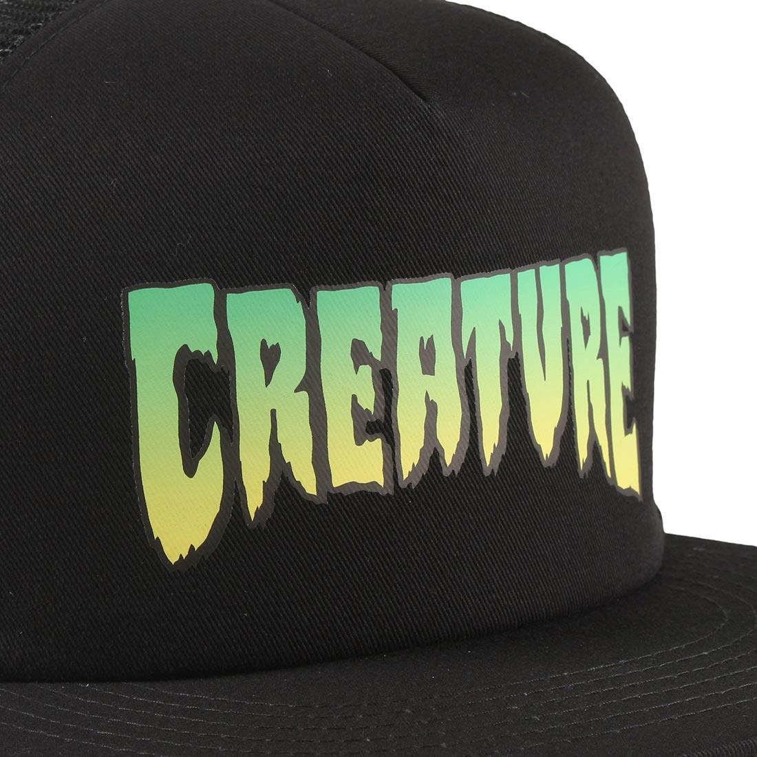 Creature Logo Mesh Back Trucker Cap - Black