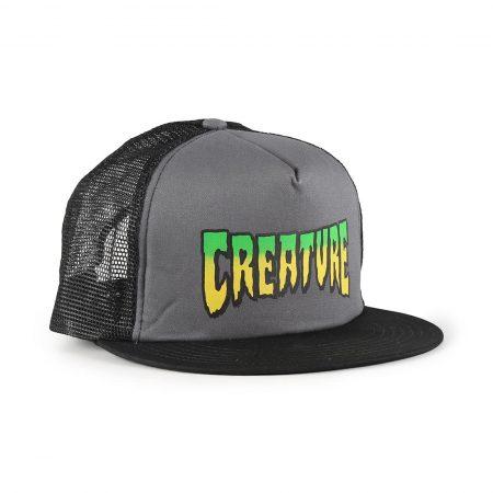 Creature Logo Mesh Back Trucker Cap - Grey / Black