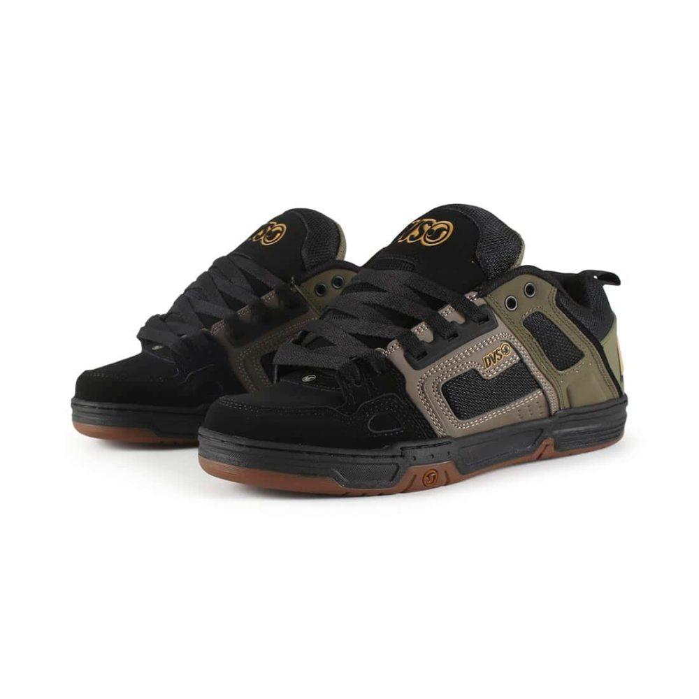 DVS-Comanche-Shoes-Brindle-Olive-Black-Nubuck-02