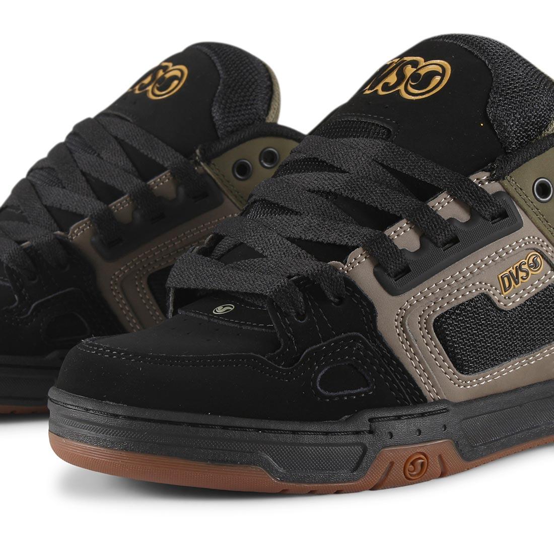 DVS Comanche Shoes - Brindle Olive / Black Nubuck