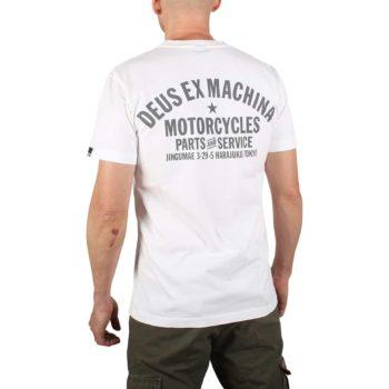 Deus Ex Machina Tokyo Address (Shield) T-Shirt - White