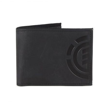Element Daily Elite Wallet - Black Leather
