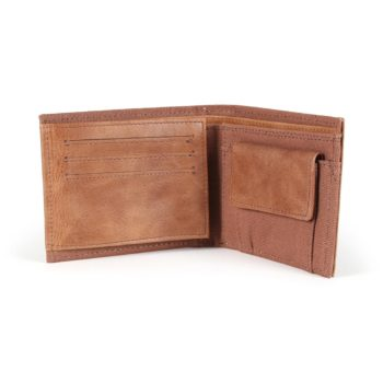Element Daily Elite Wallet - Brown Leather