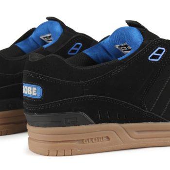 Globe Fusion Shoes - Black / Blue / Gum
