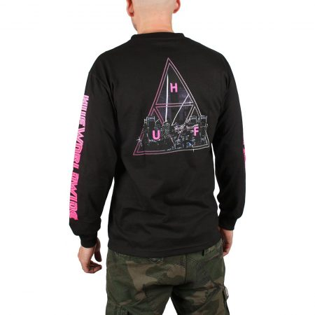 HUF Neo Triple Triangle L/S T-Shirt - Black
