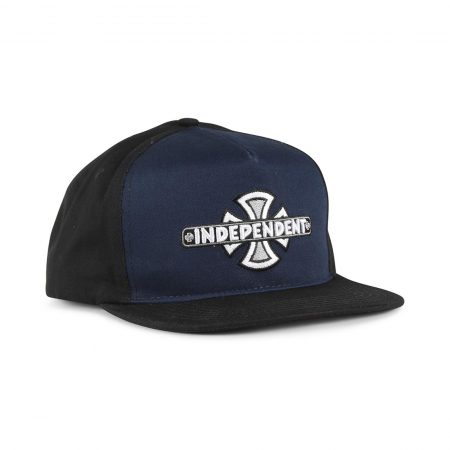 Independent Vintage Cross Snapback Cap - Black
