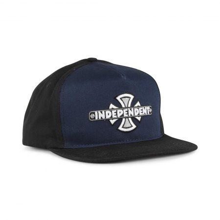 Independent Vintage Cross Snapback Cap - Black