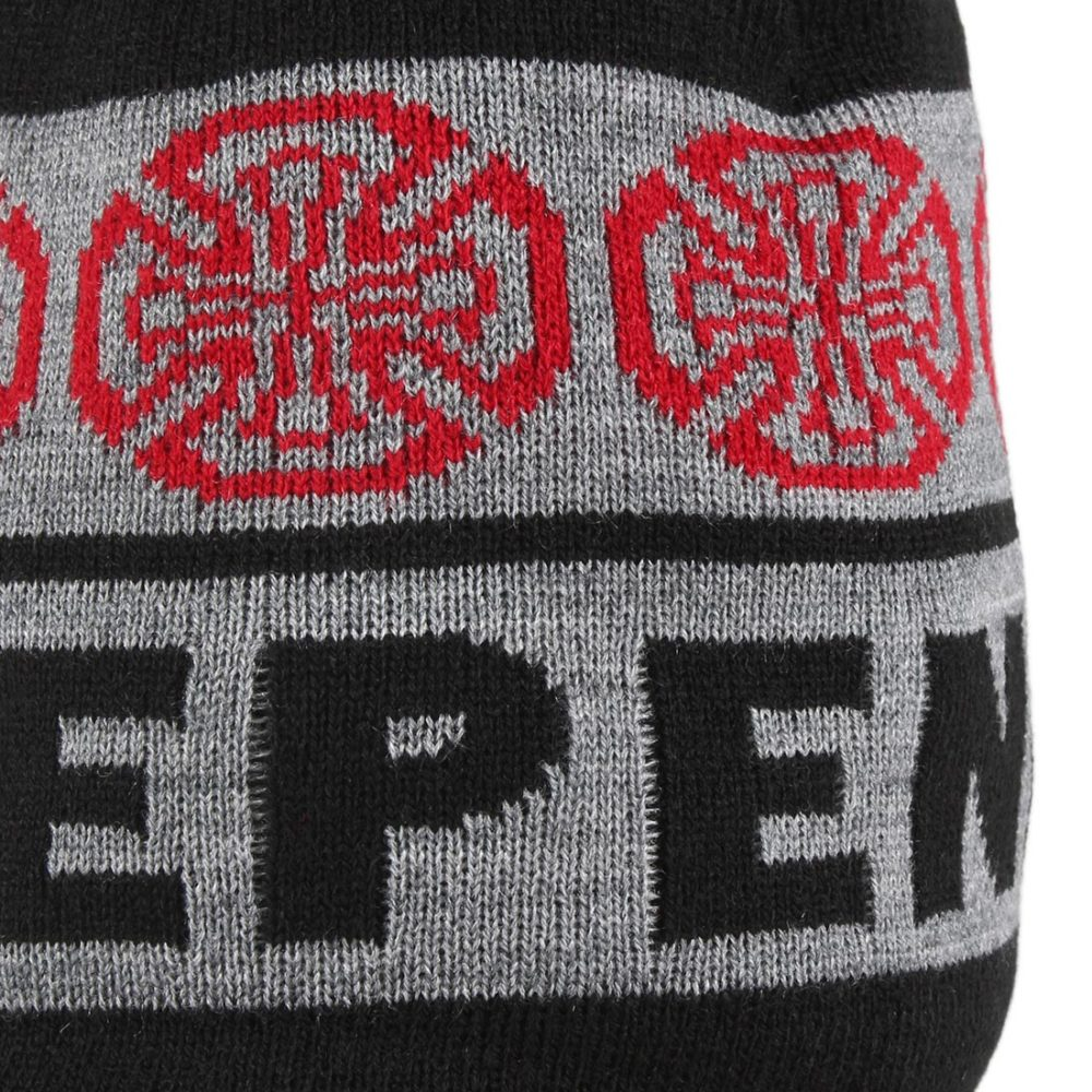 Independent Woven Crosses Beanie hat - Black / Charcoal