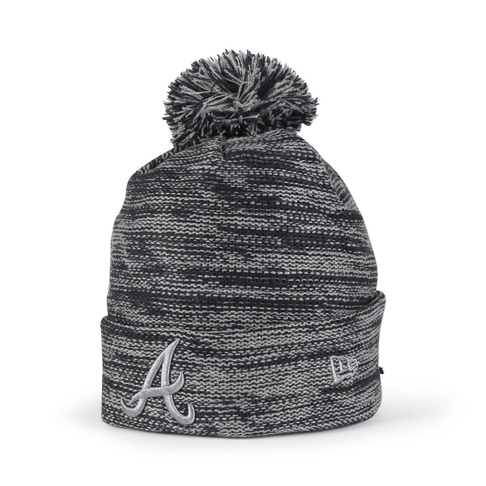 New Era Atlanta Braves Marl Knit Beanie - Navy / Storm Grey