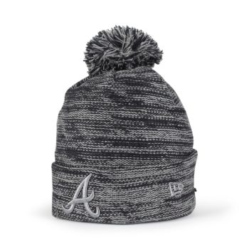 5d455cf0680 New Era Atlanta Braves Marl Knit Beanie - Navy   Storm Grey