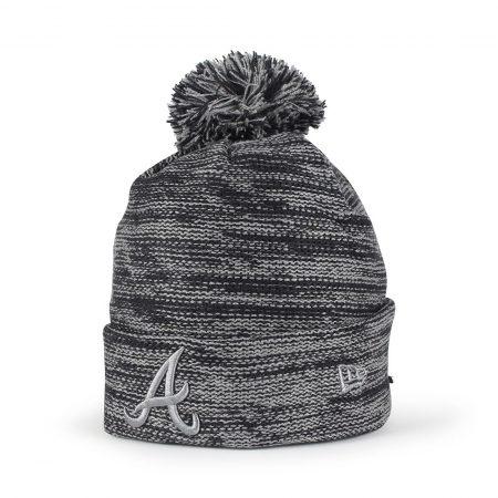 New Era Atlanta Braves Marl Knit Beanie - Navy / Storm Grey