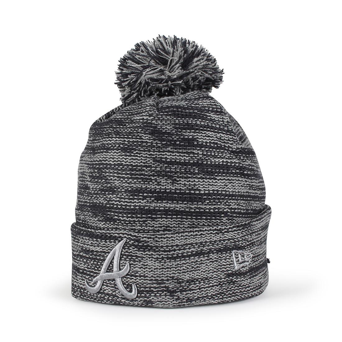 bd6d77d9b1663 New Era Atlanta Braves Marl Knit Beanie – Navy / Storm Grey