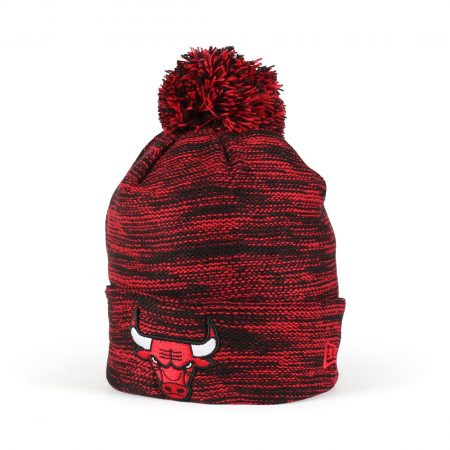 New Era Chicago Bulls Marl Knit Beanie - Black / Red