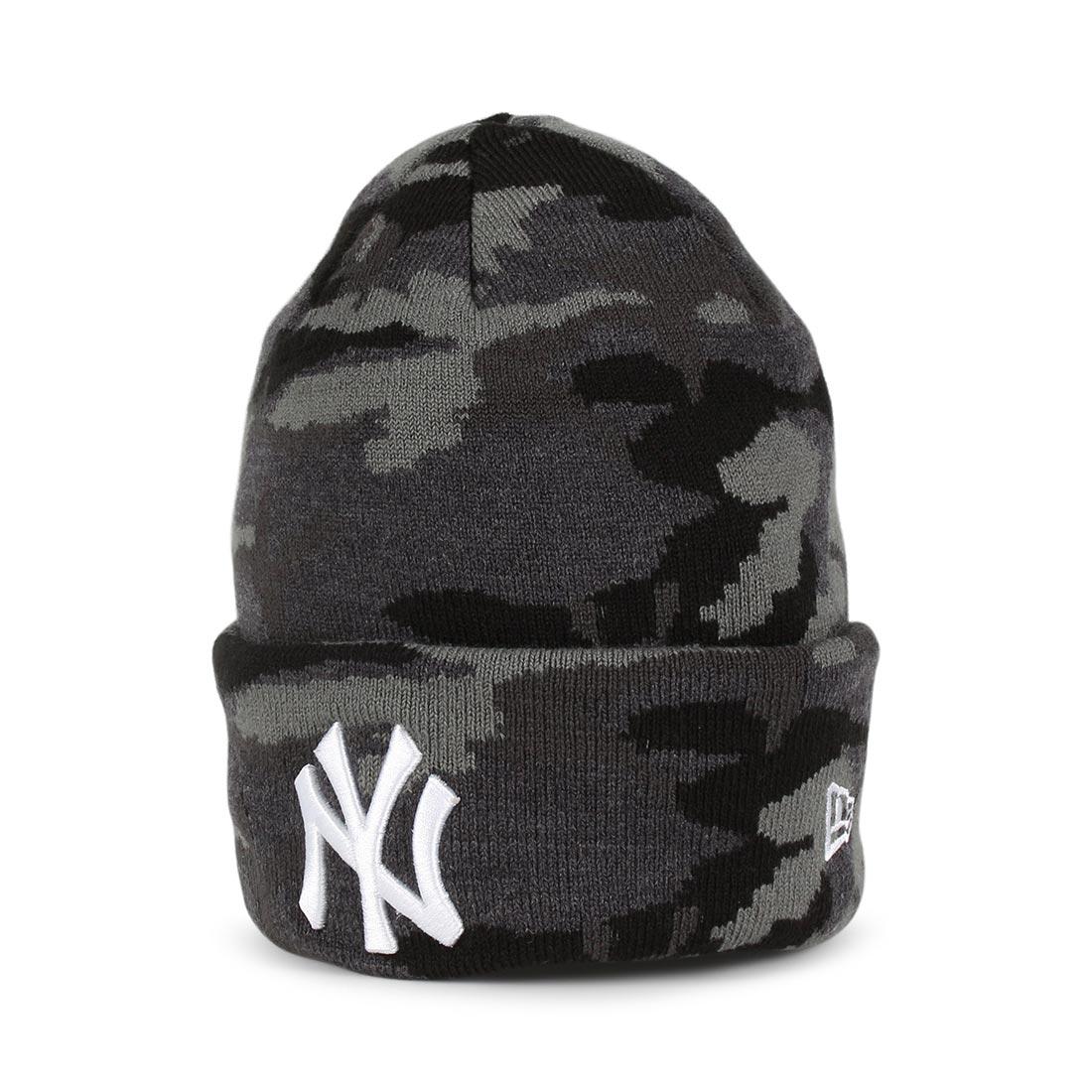 dd31671423a New Era NY Yankees Essential Knit Beanie - Midnight Camo   Optic White