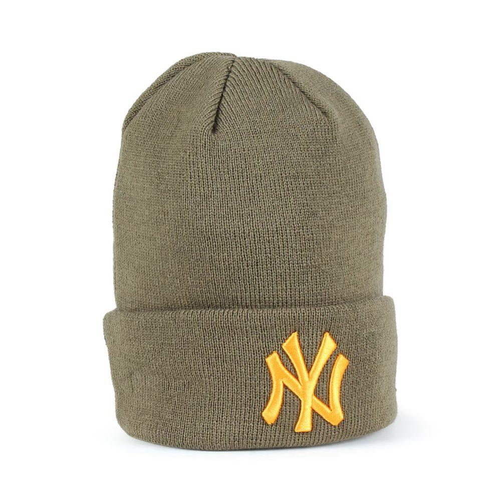 854f198d4b2 New Era NY Yankees League Essential Cuff Beanie – Olive   Buttersquash