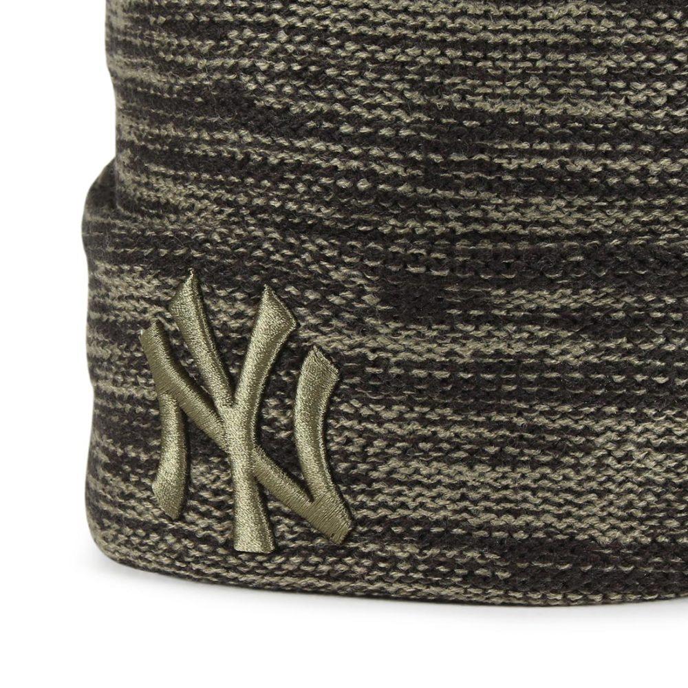 New Era New York Yankees Marl Knit Beanie - Black / New Olive