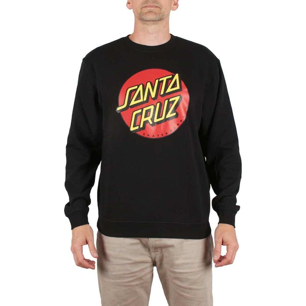 Santa Cruz Classic Dot Crew Sweater - Black