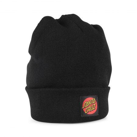 Santa Cruz Classic Dot label Beanie Hat - Black