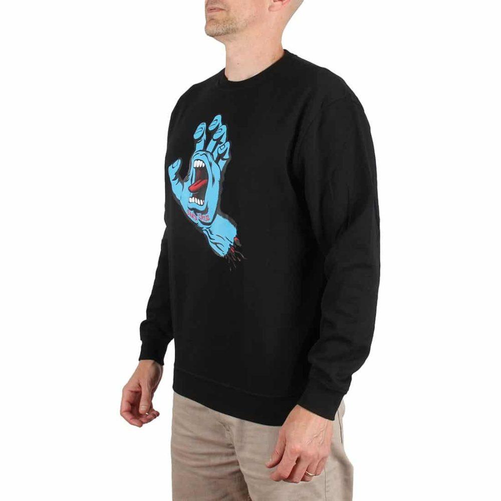 Santa Cruz Screaming Hand Crew Sweater - Black