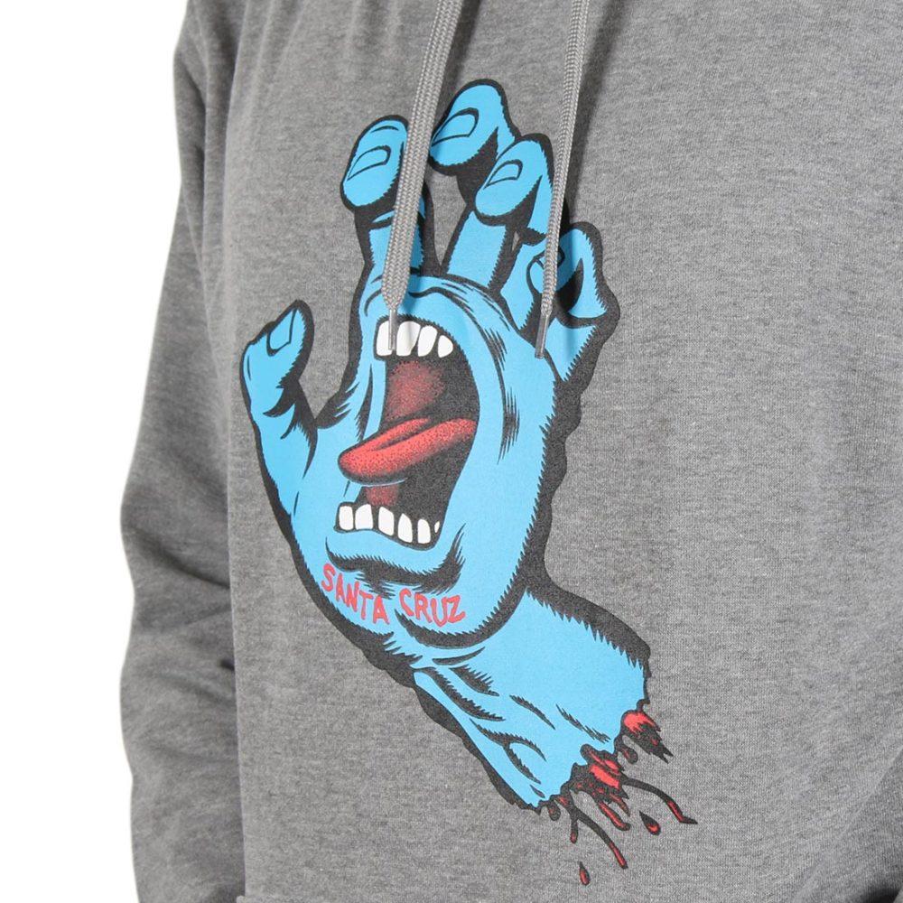 Santa Cruz Screaming Hand Pullover Hoodie - Dark Heather