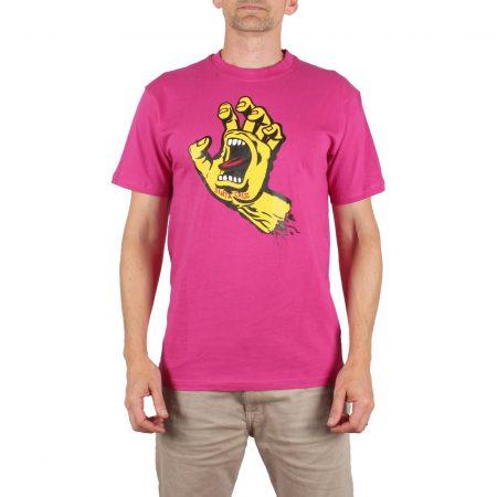Santa Cruz Screaming Hand S/S T-Shirt - Raspberry