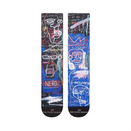 Stance x Jean-Michel Basquiat Anatomy Socks - Black