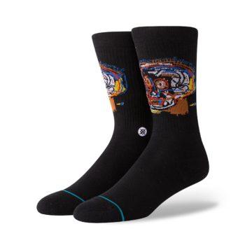 Stance x Jean-Michel Basquiat Head Case Socks - Black