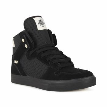 Supra Vaider High Top Shoes - Black / Off-White / Black