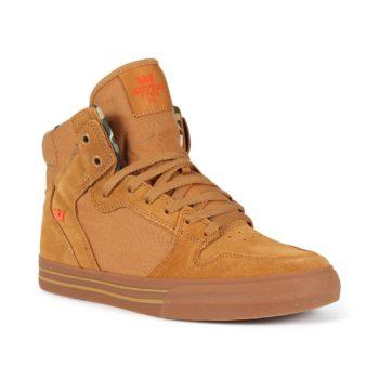 Supra Vaider High Top Shoes - Tan / Lt Gum