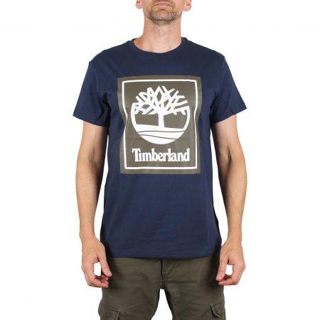 Timberland Logo S/S T-Shirt - Black Iris
