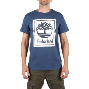 Timberland Logo S/S T-Shirt - Dark Denim