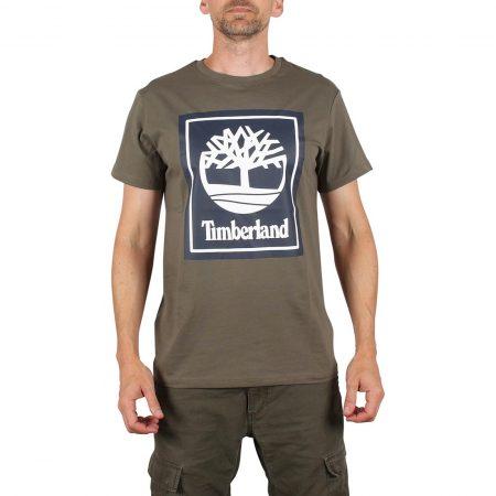 Timberland Logo S/S T-Shirt - Grape Leaf