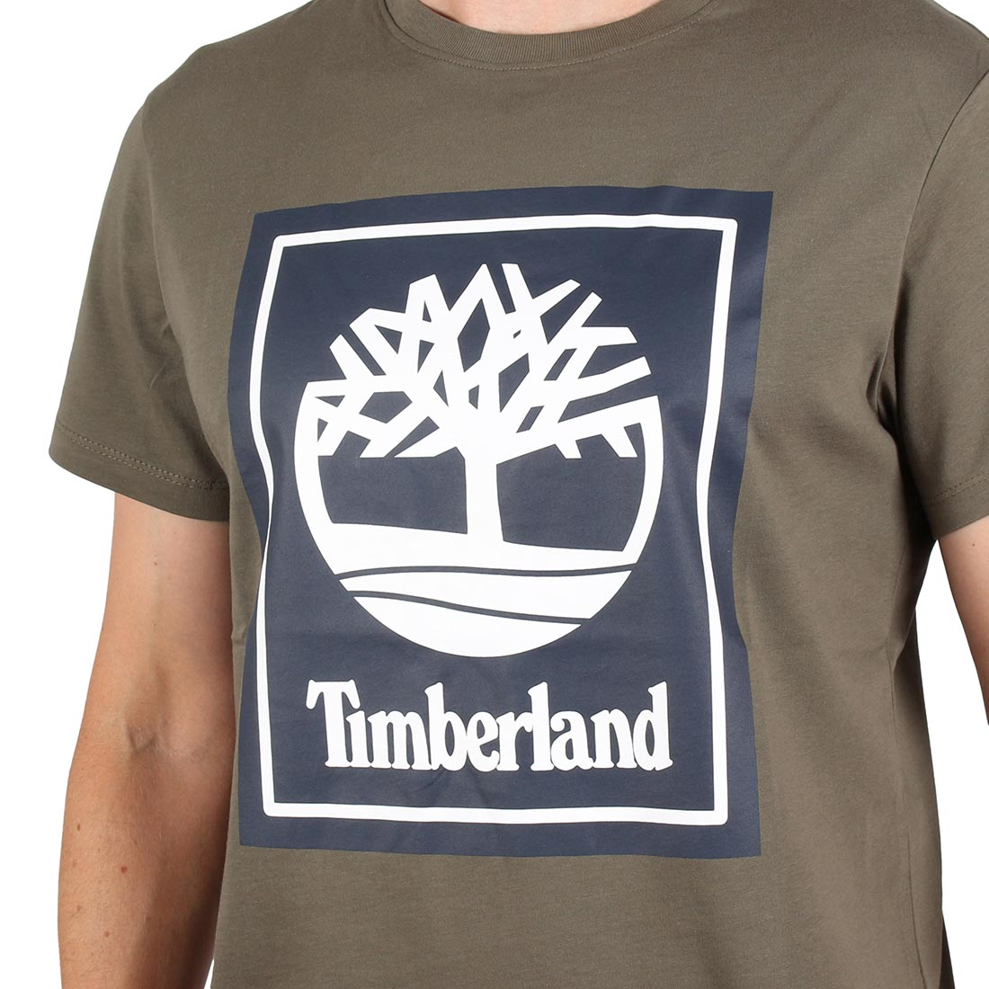 21a45b397c Timberland Logo S/S T-Shirt - Grape Leaf