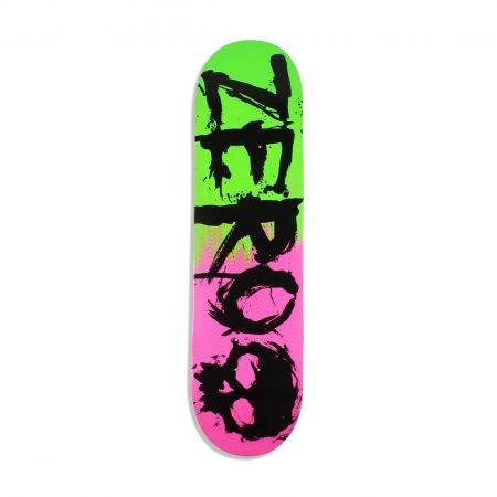 """Zero Blood 2-Tone Glitter 8.25"""" Skateboard Deck - Green / Purple"""