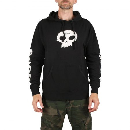 Zero Multi Skull Pullover Hoodie - Black / White