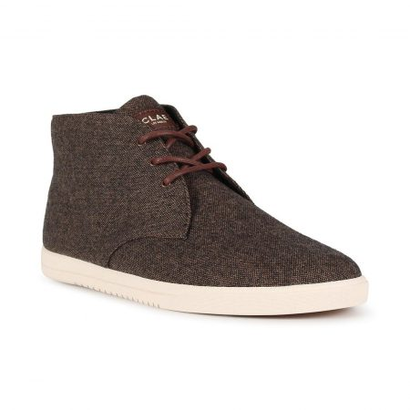 Clae Strayhorn Textile Shoes - Umber Textured Canvas