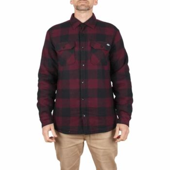 Dickies Lansdale Sherpa Lined L/S Shirt - Maroon