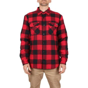 Dickies Lansdale Sherpa Lined L/S Shirt - Red