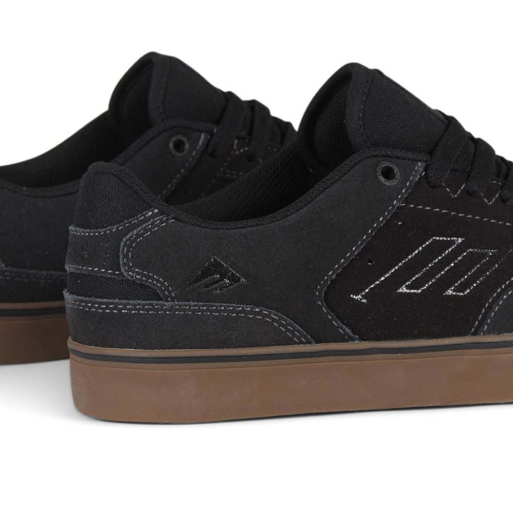 Emerica Reynolds Low Vulc Shoes - Dark Grey / Black / Gum