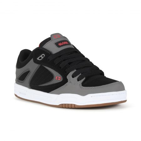 Globe Agent Shoes - Black / Charcoal / Red