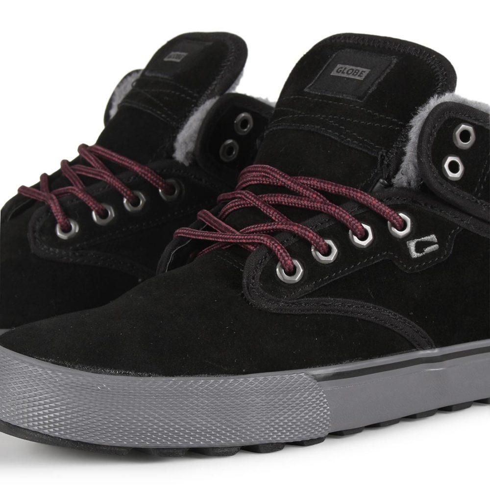 Globe Motley Mid Shoes Black Phantom Fur