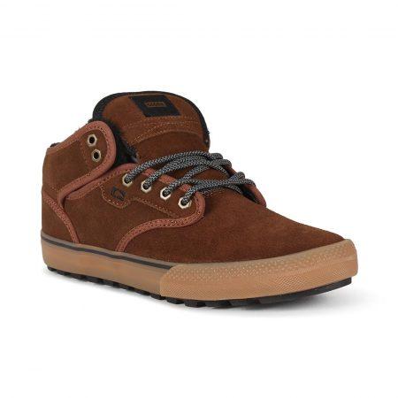 Globe Motley Mid Shoes - Partridge Brown / Gum / Fur
